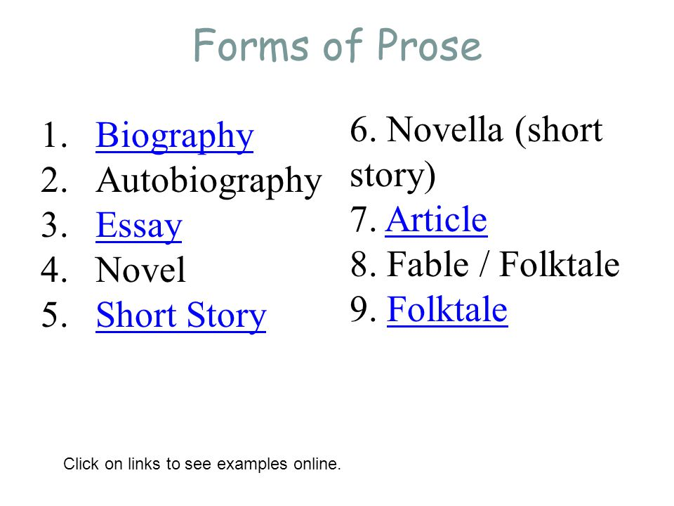 similarities and differences between drama poetry and short stories Published: thu, 14 dec 2017 in order to properly compare and contrast the major differences between literary forms, we must first look at their similarities the drama, poetry, and short story are all creative works of art.