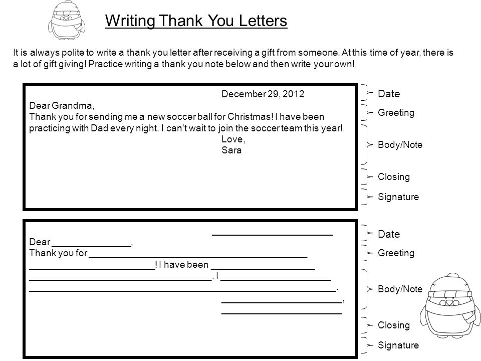 Holiday letter writing ppt video online download writing thank you letters expocarfo Image collections