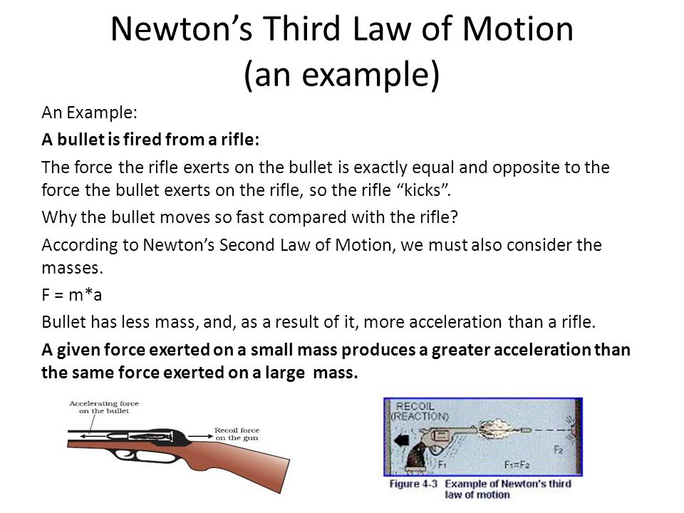 Newton's Third Law of Motion (an example)