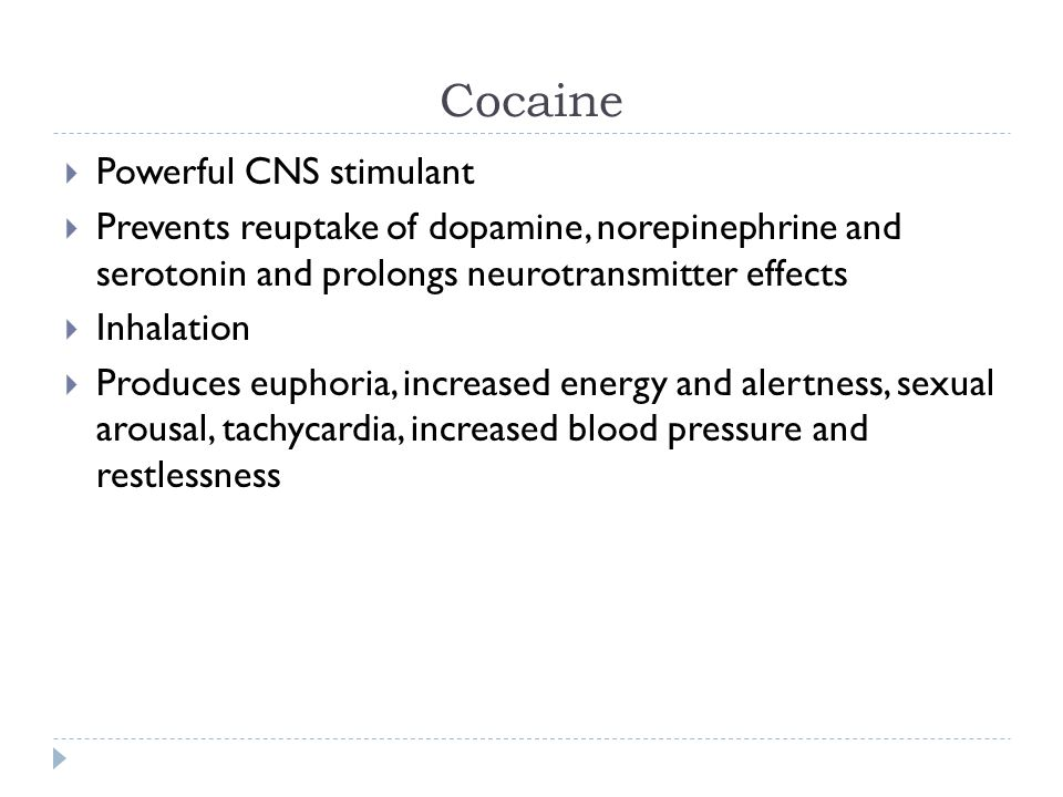 Muscle Relaxants, Substance Abuse and CNS Stimulants - ppt