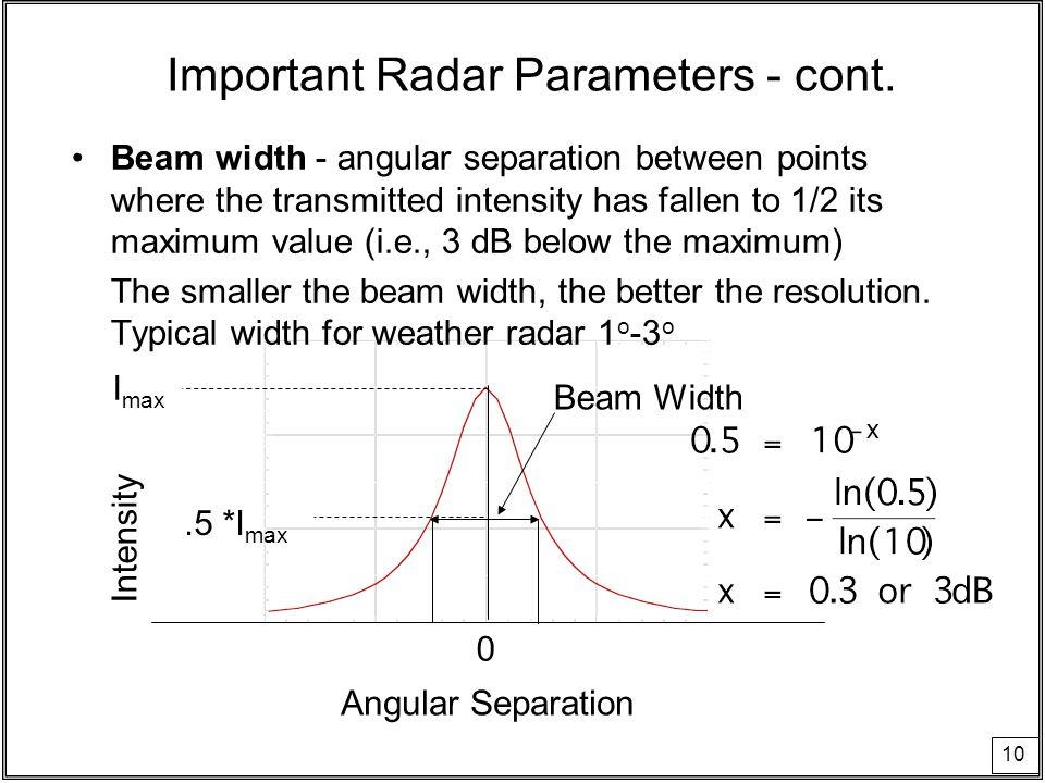 Weather Radar Radar - acronym for RADio Detection and Ranging - ppt