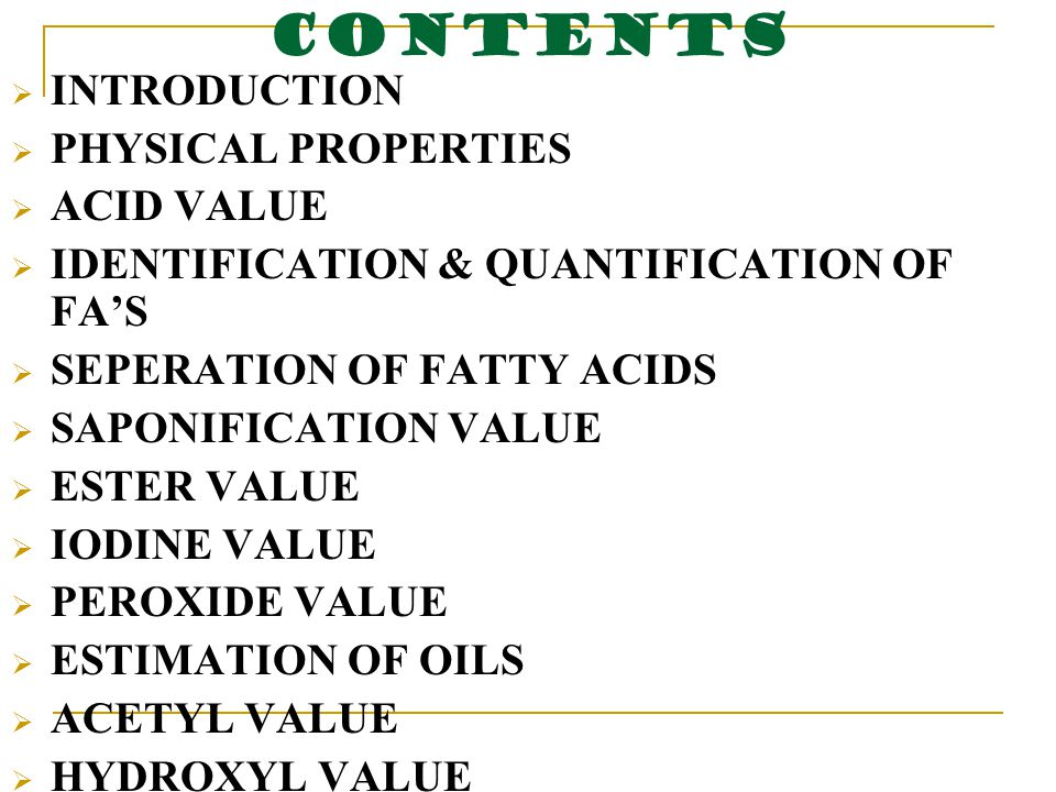 determination of peroxide value of fats and oils