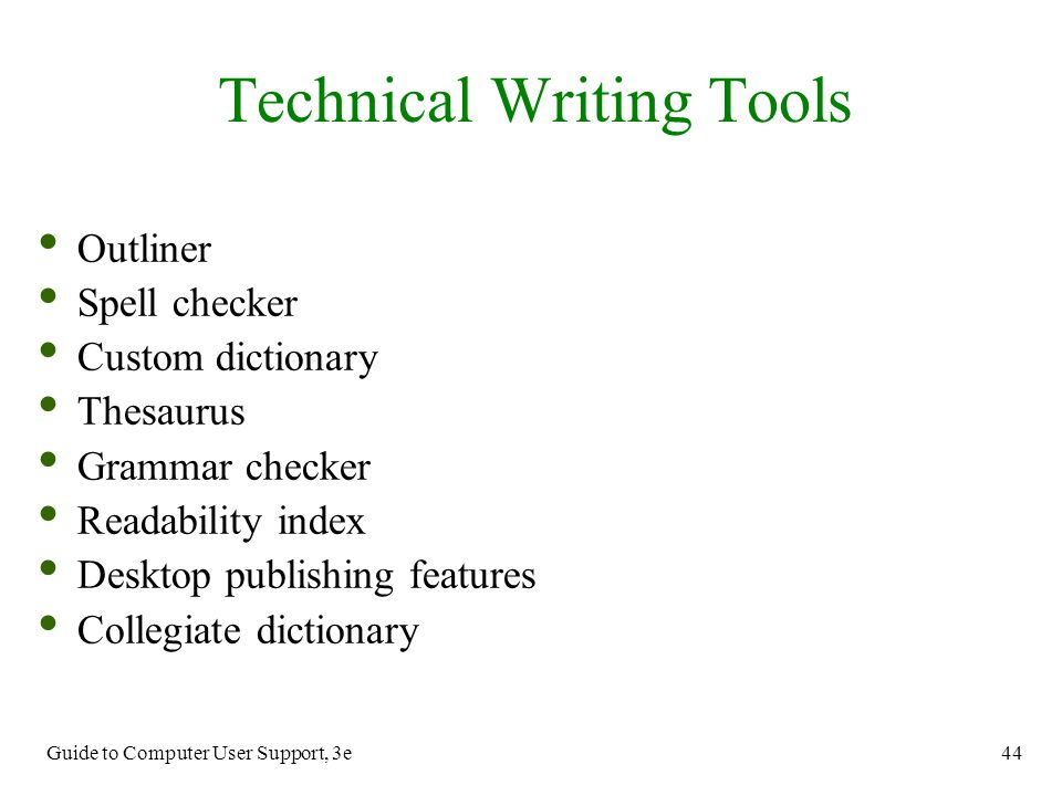 technical writing about computer