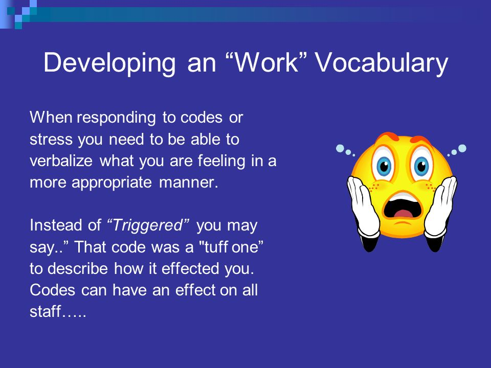Developing an Work Vocabulary