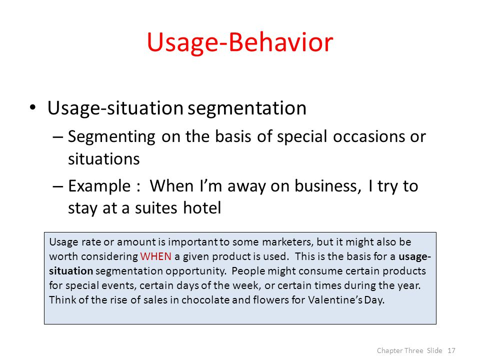 usage rate segmentation examples