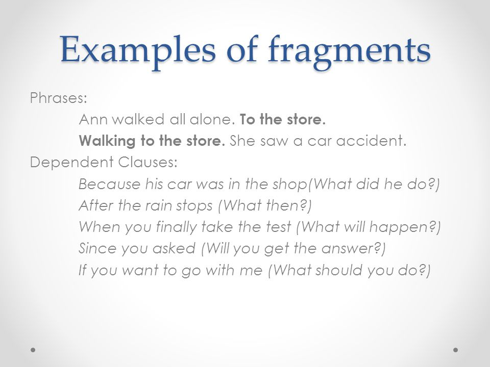 fragments and run-on sentences - ppt download