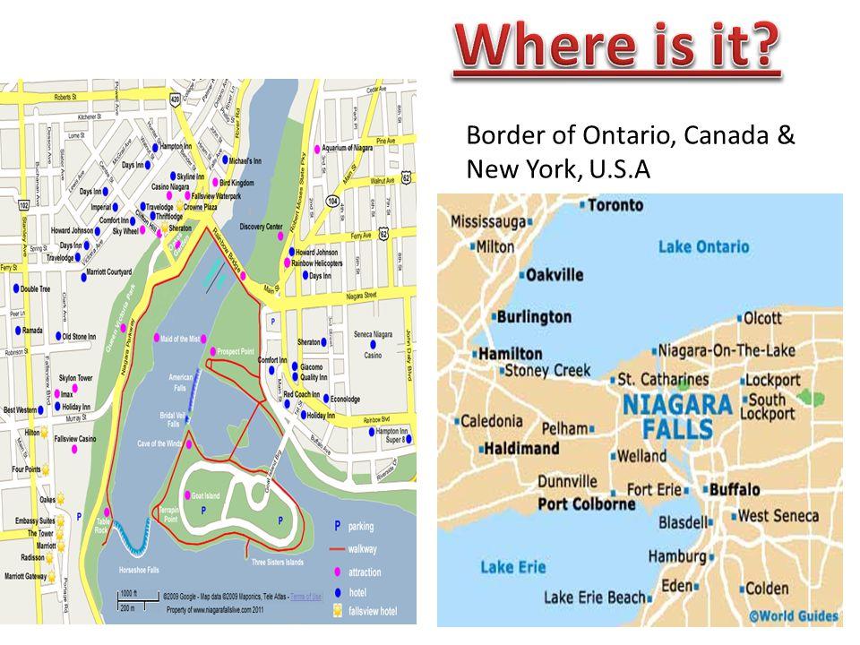 Map Of Canada New York Border.Niagara Falls Shahwar Fatima Ppt Video Online Download