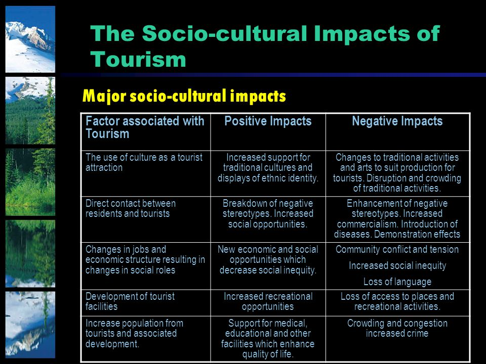 impact of tourism on social cultures