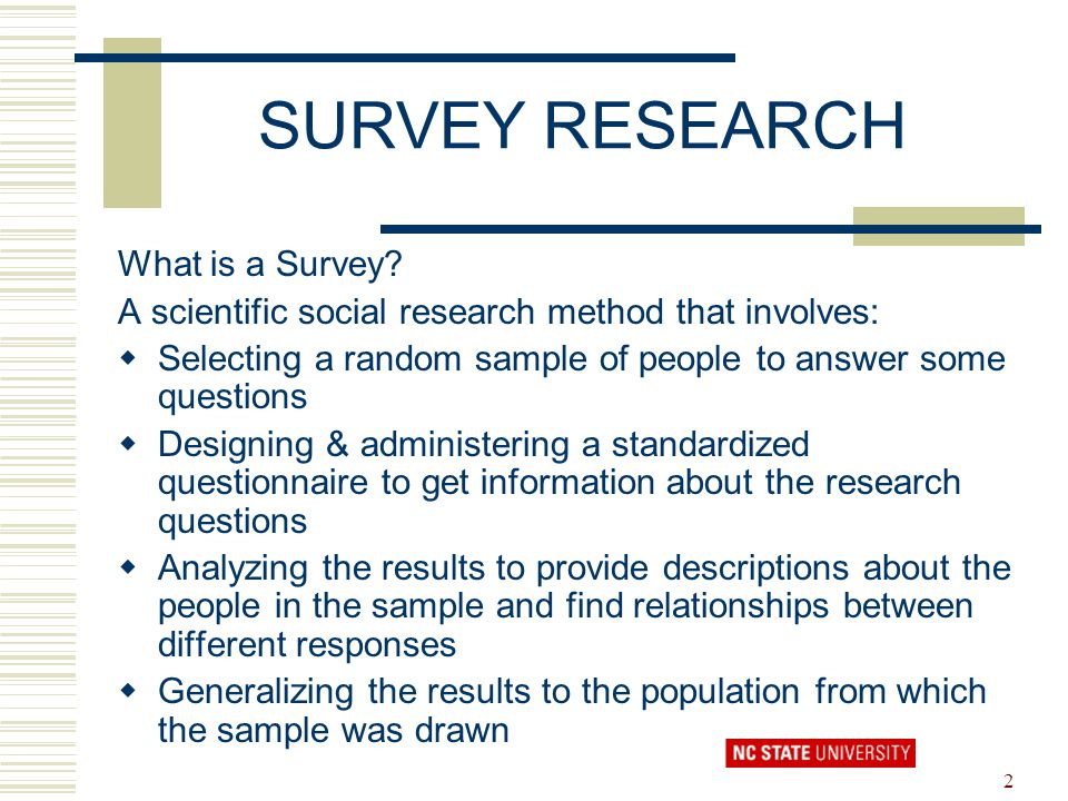 survey research created by nancy whelchel ppt download
