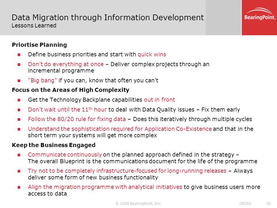 Data migration through an information development approach a 30 data malvernweather Gallery