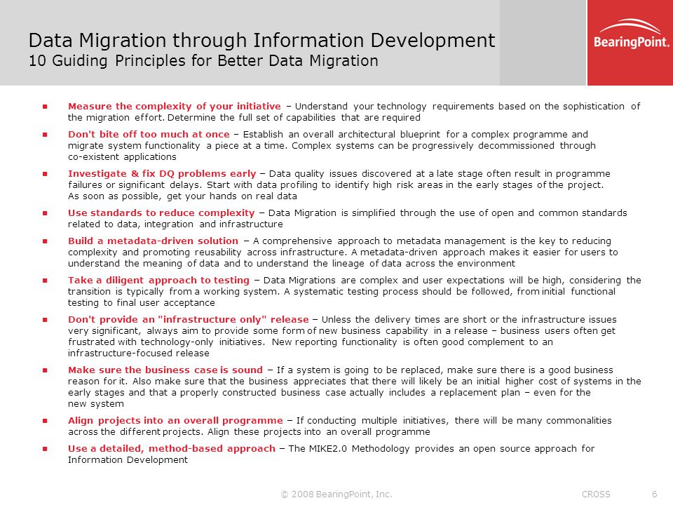 Data Migration through an Information Development Approach A