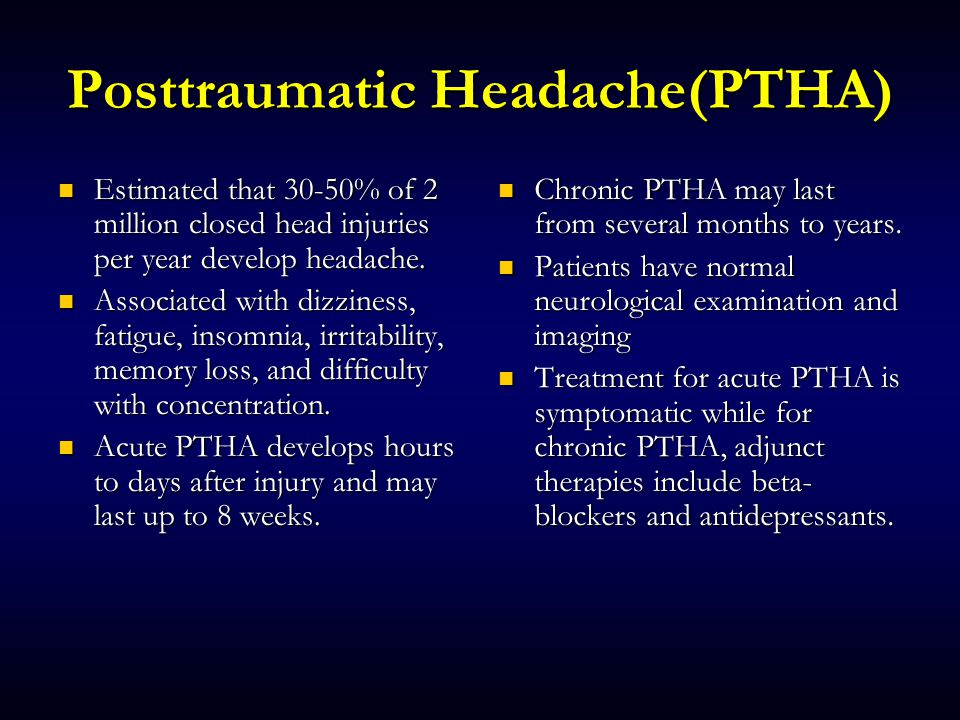 Headache & Facial Pain Each of us is likely to have experienced