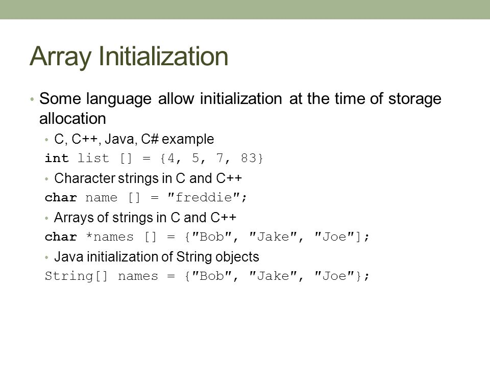 C String To Char Array