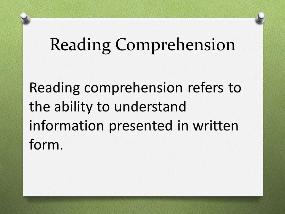 Reading comprehension skills ppt download.