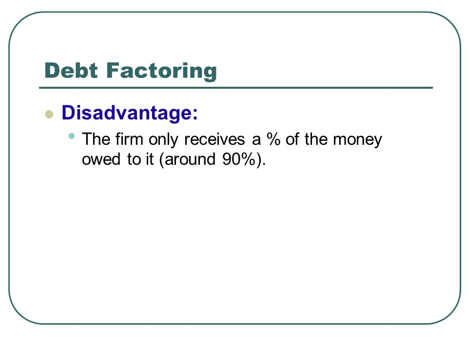 factoring advantages and disadvantages pdf
