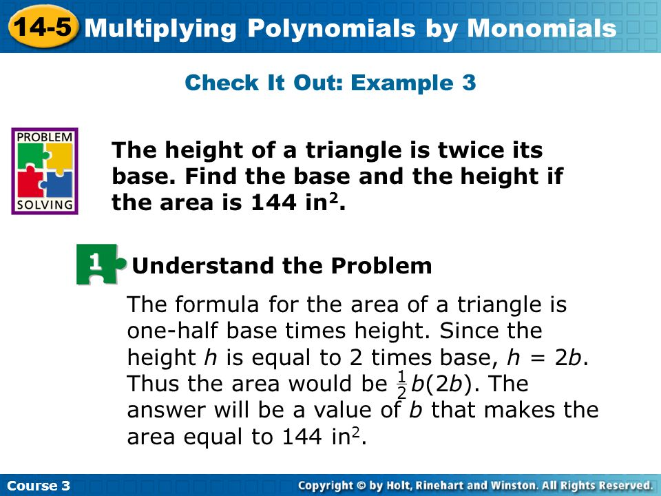 14-5 problem solving multiplying polynomials by monomials