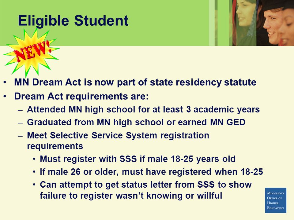 Eligible Student MN Dream Act is now part of state residency statute