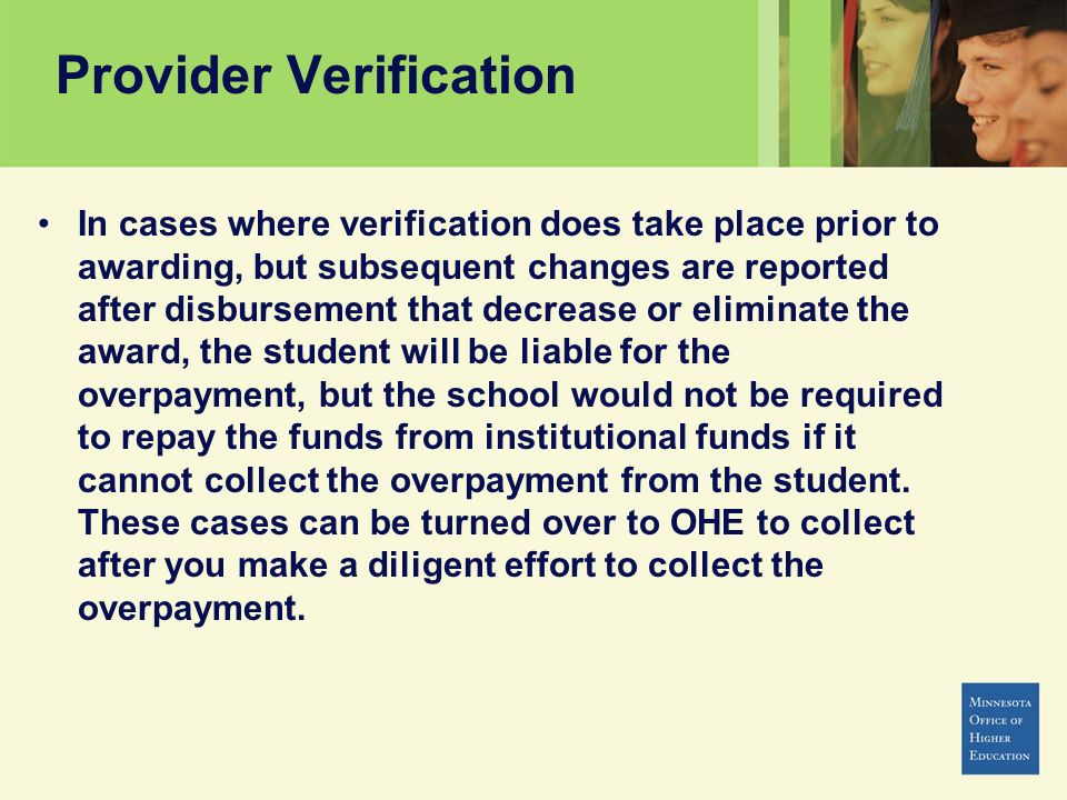 Provider Verification