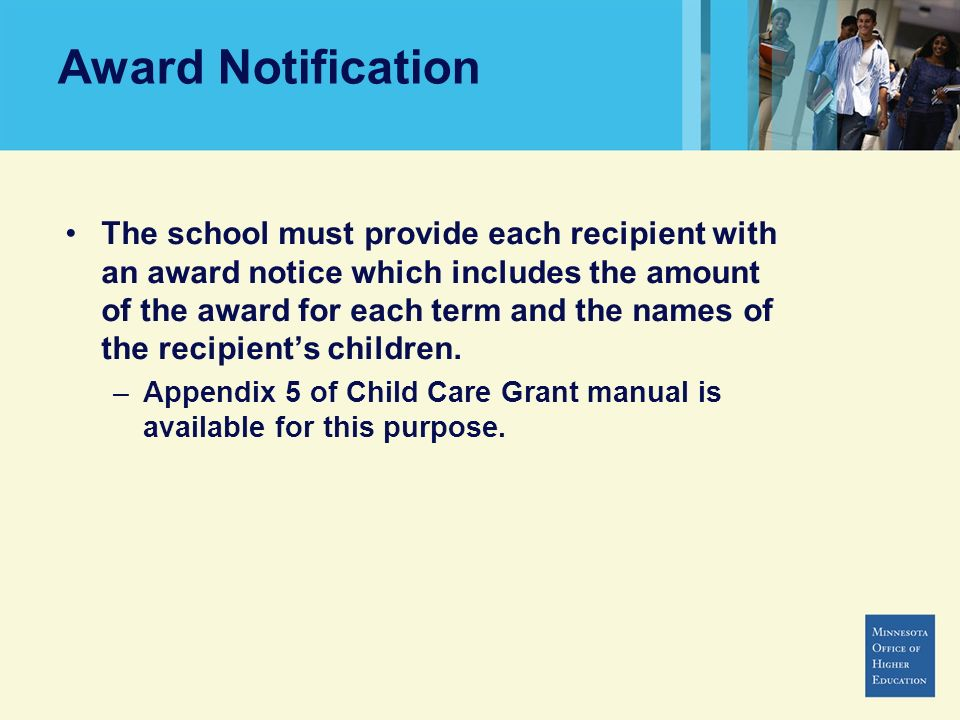 Award Notification