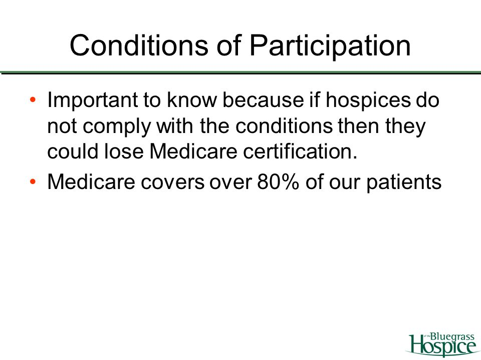 Introduction To The Medicare Conditions Of Participation Ppt Video