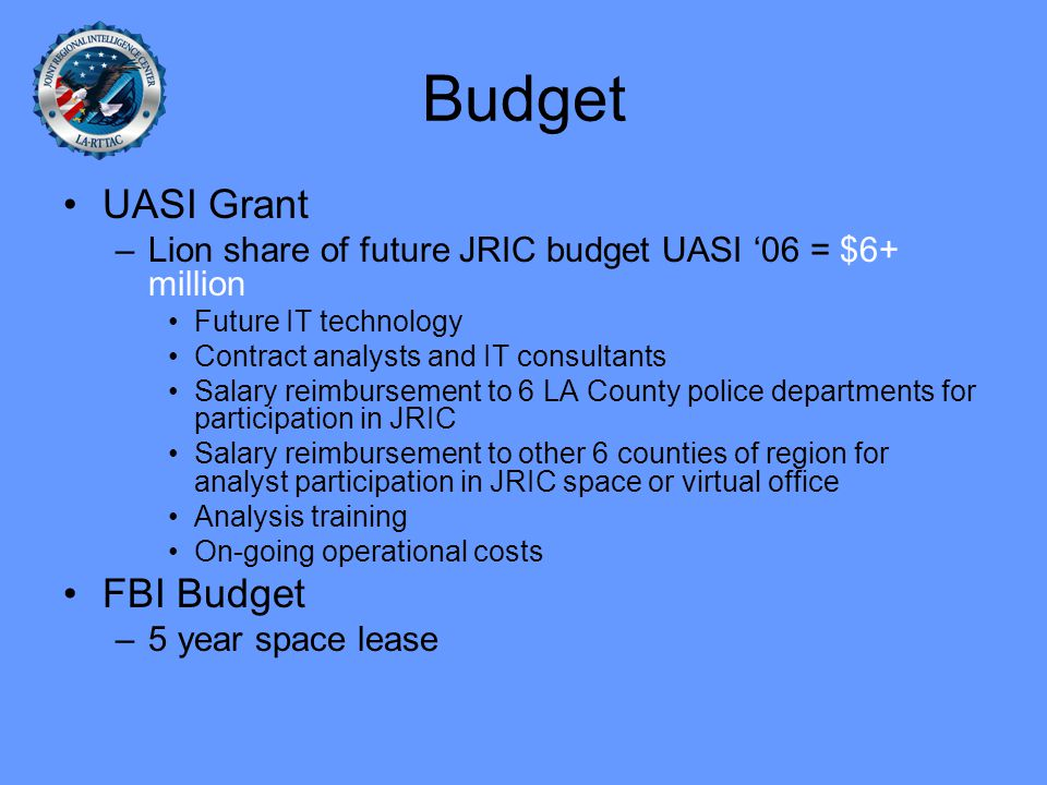 Los Angeles Joint Regional Intelligence Center - ppt video