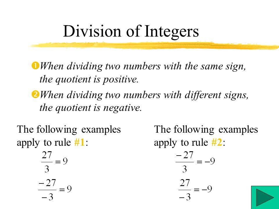 Integers Multiplication Division Ppt Video Online Download