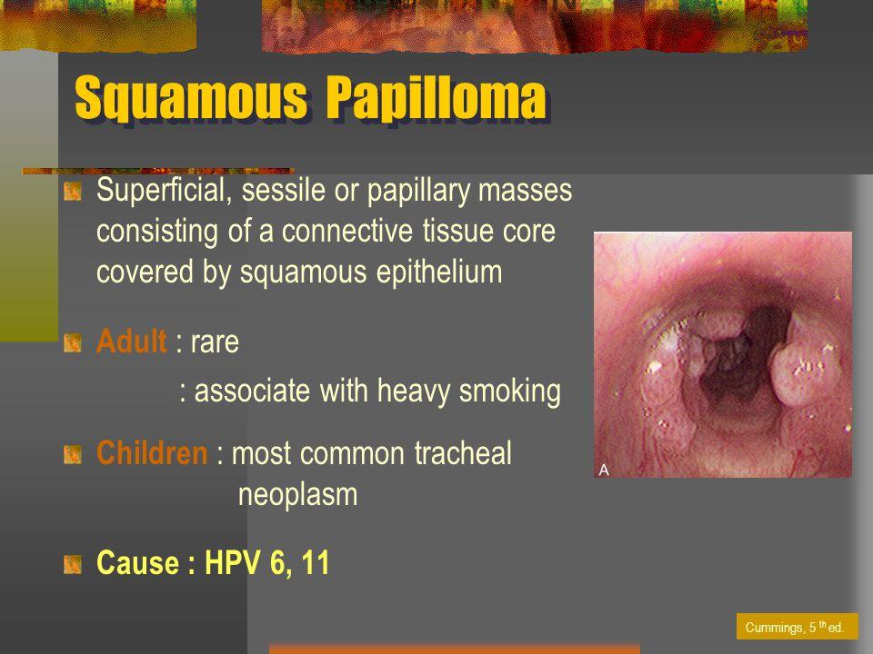 squamous papilloma etiology)