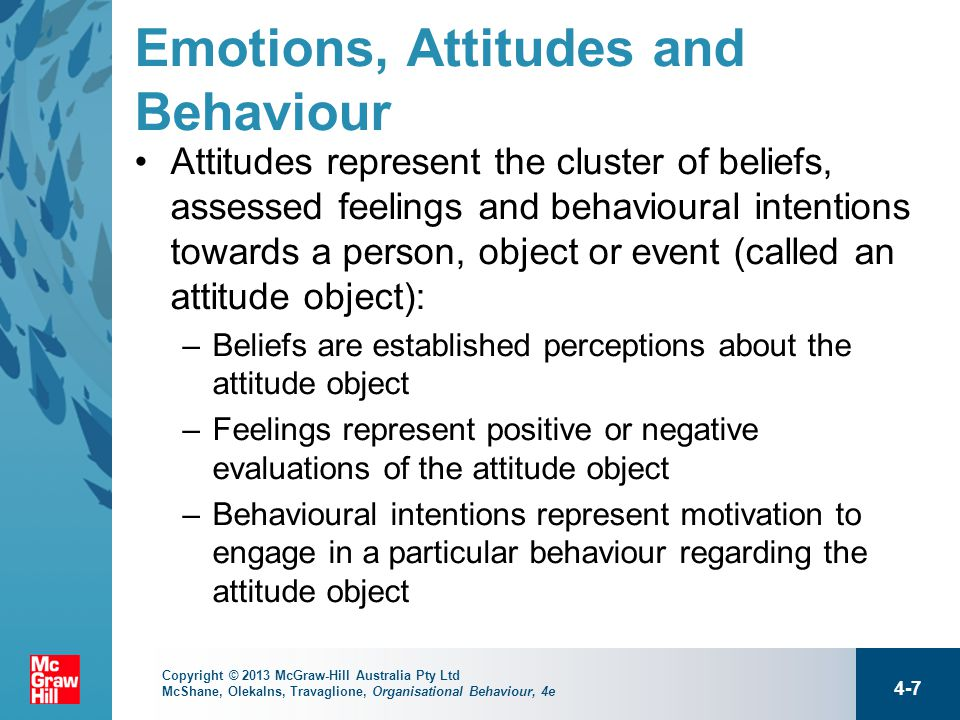 essay on attitude and behaviour In psychology, an attitude refers to a set of emotions, beliefs, and behaviors toward a particular object, person, thing, or event attitudes are often the result of experience or upbringing, and they can have a powerful influence over behavior.