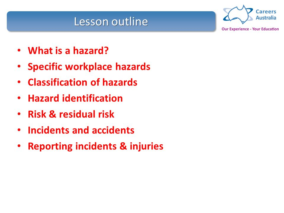 Contribute to ohs processes hltwhs300a ppt video online download 2 lesson fandeluxe Choice Image