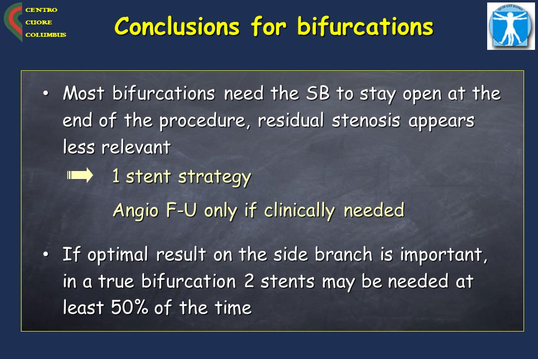 Conclusions for bifurcations
