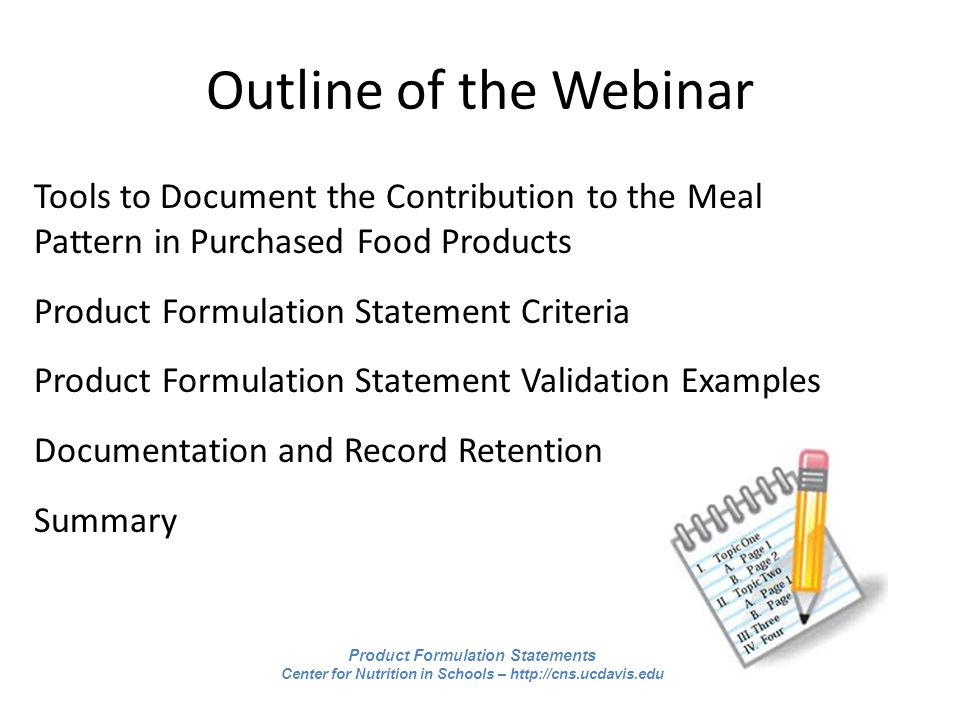 Calculating the Contribution to the Meal Pattern: Product ...
