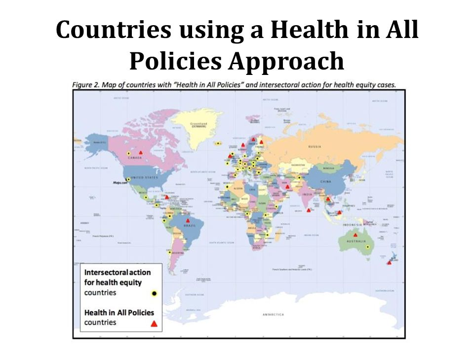 Countries using a Health in All Policies Approach