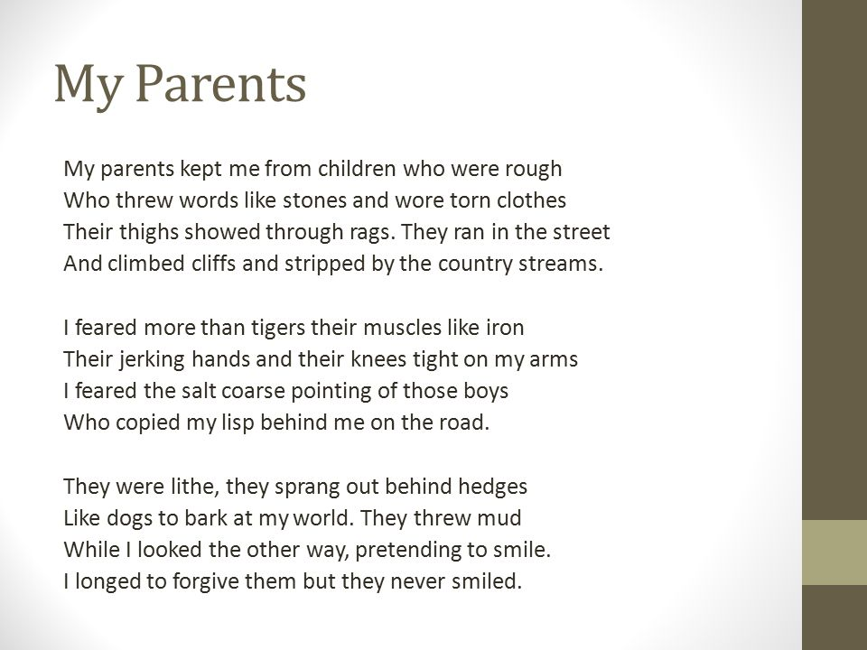 My Parents  - ppt video online download