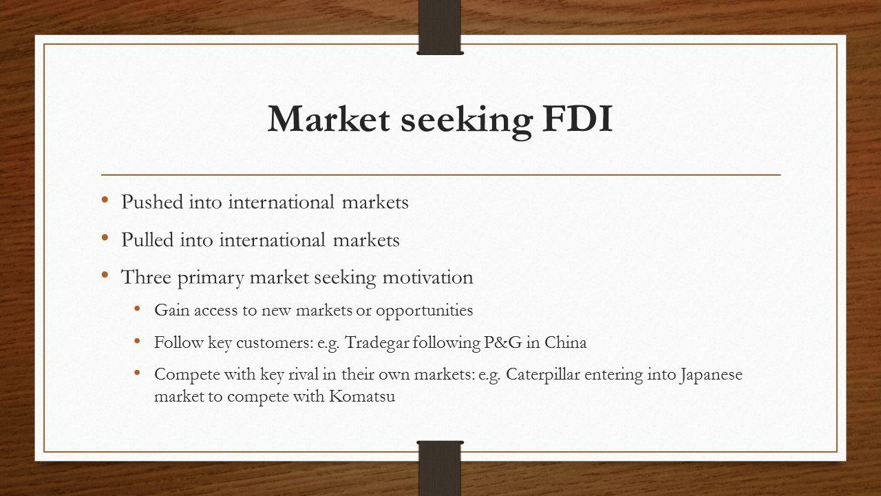 market seeking fdi