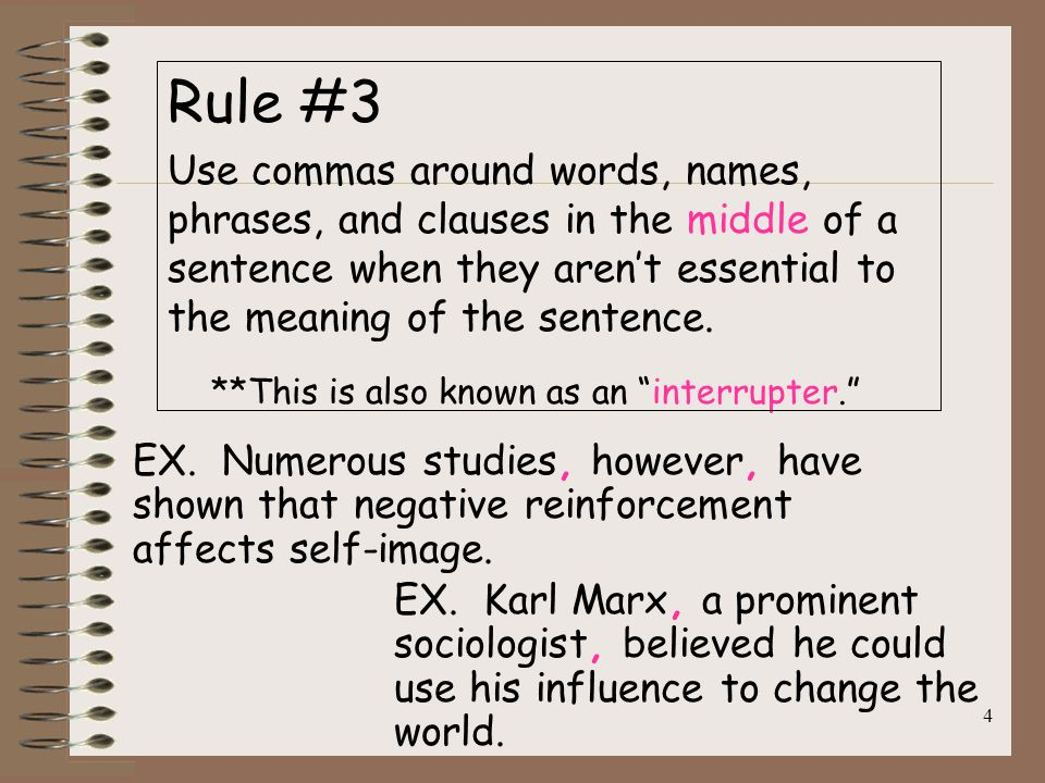When Do I Use A Comma Quick Rules For Comma Usage Ppt Download