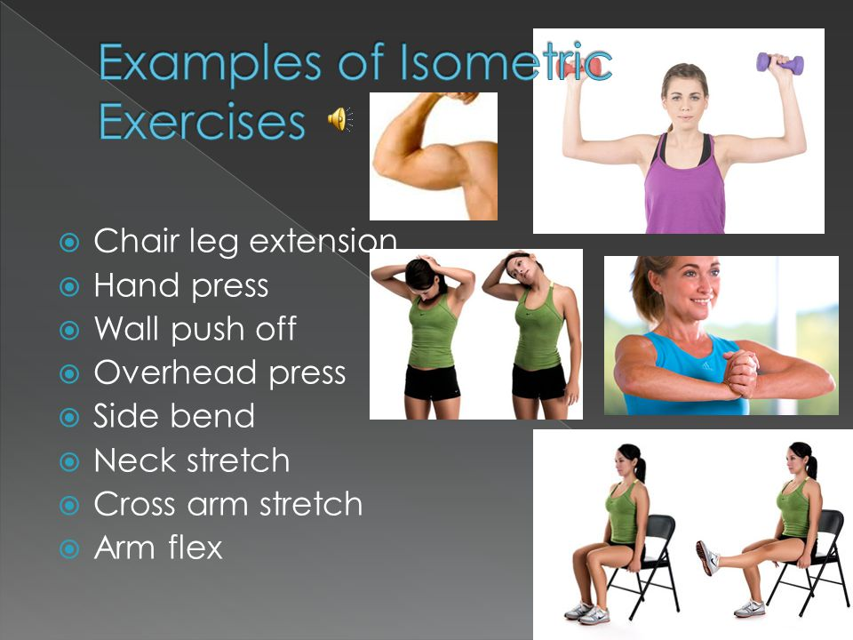 Isometric Contraction Sporting Example Isometric and I...