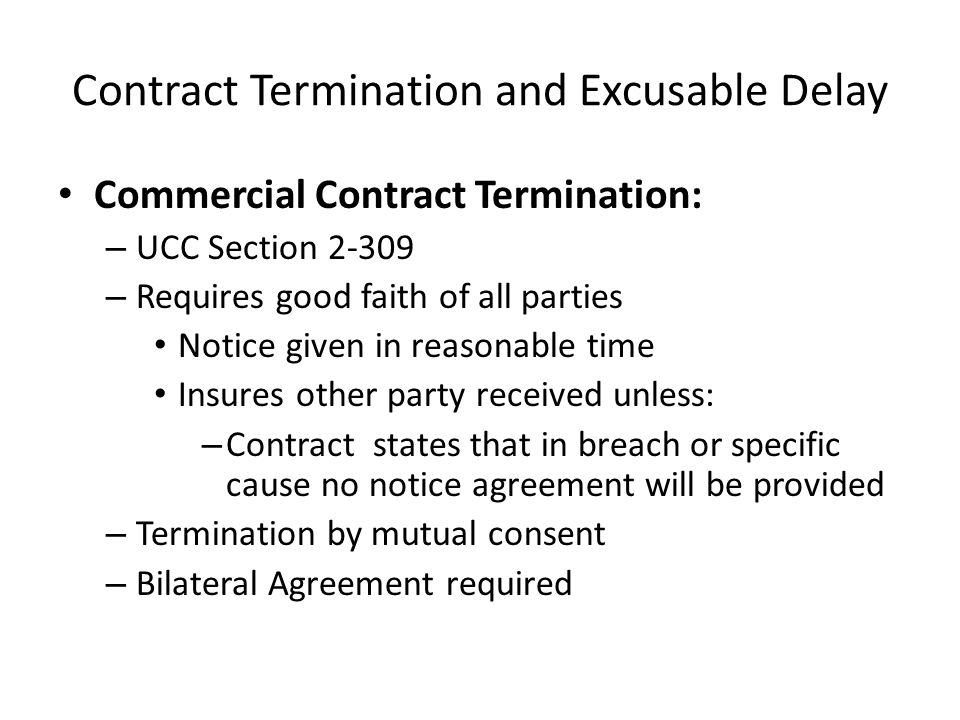 Contract Termination And Excusable Delay Ppt Video Online Download