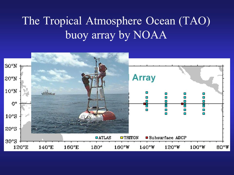 The Tropical Atmosphere Ocean (TAO) buoy array by NOAA