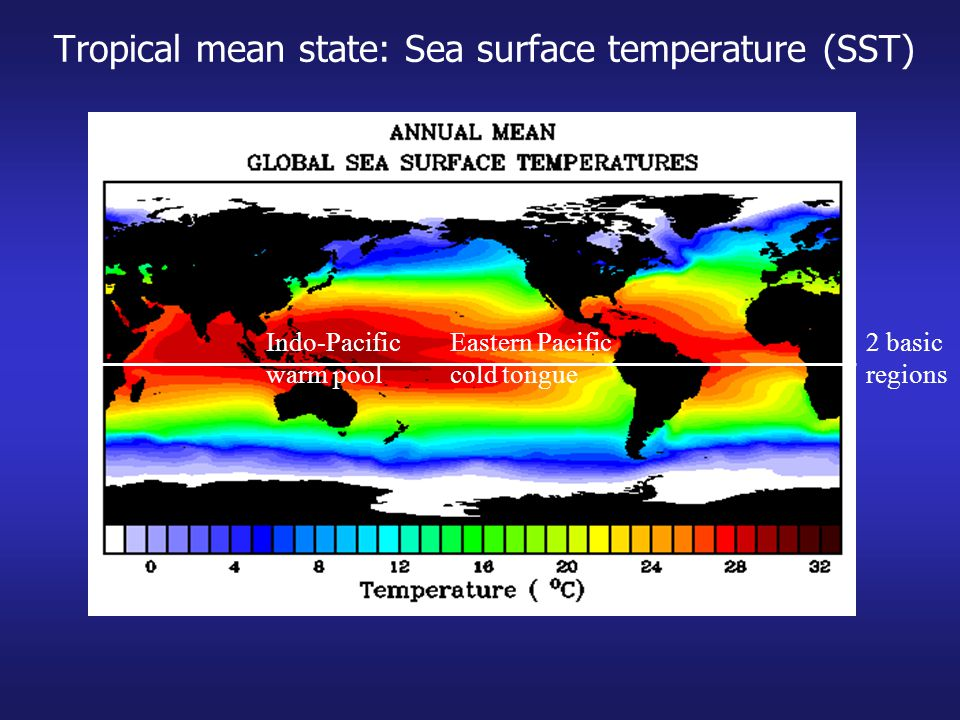 Tropical mean state: Sea surface temperature (SST)