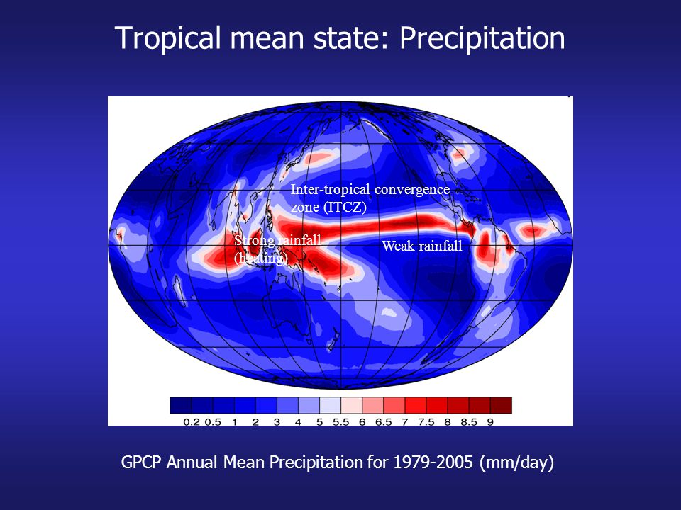 Tropical mean state: Precipitation