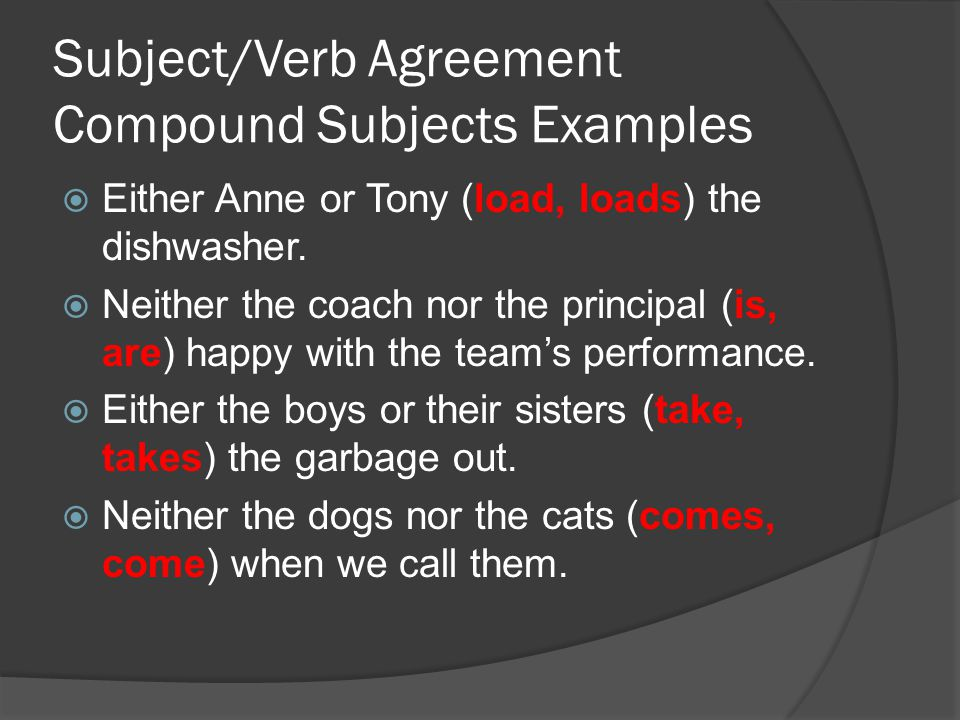 Subjectverb Agreement Ppt Video Online Download