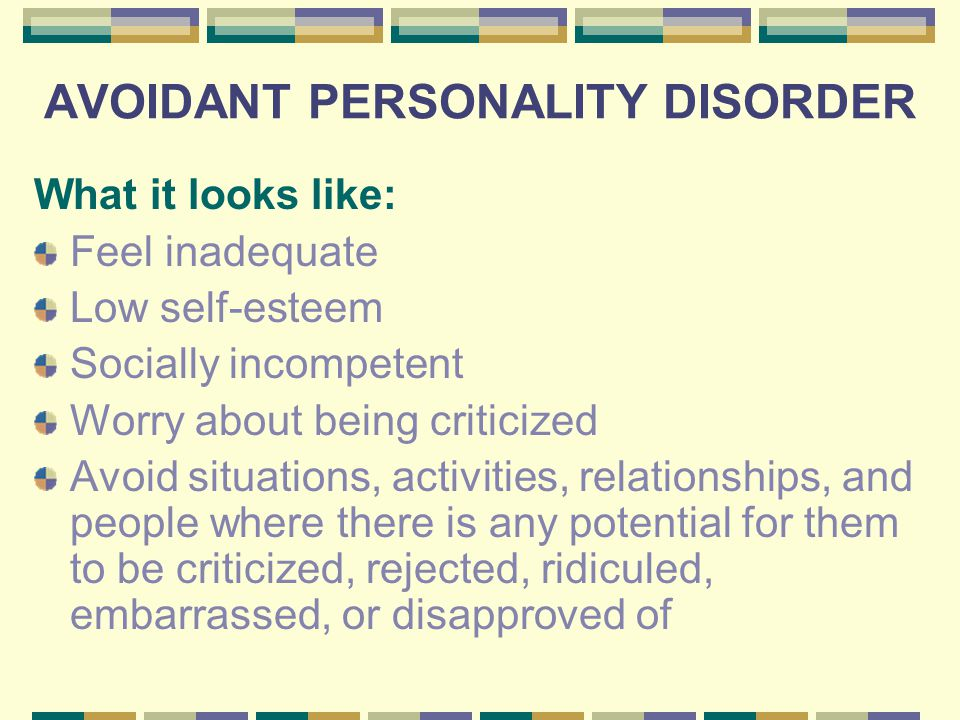 Avoidant personality and relationships