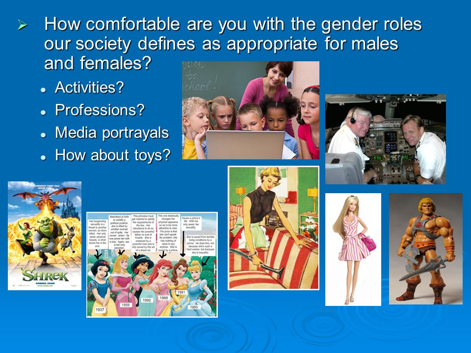 How comfortable are you with the gender roles our society defines as appropriate for males and females