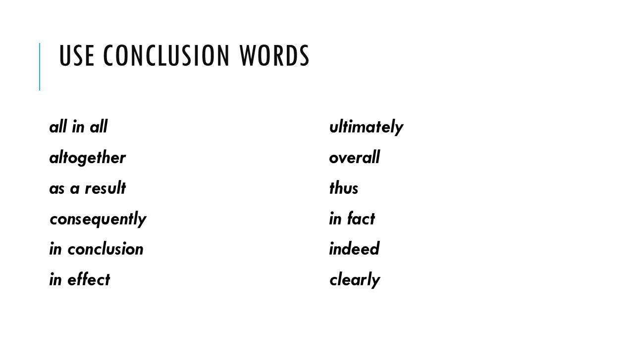 conclusion words