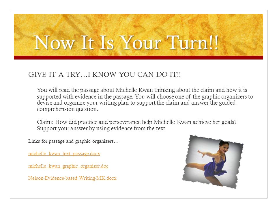 Now It Is Your Turn!! GIVE IT A TRY…I KNOW YOU CAN DO IT!!