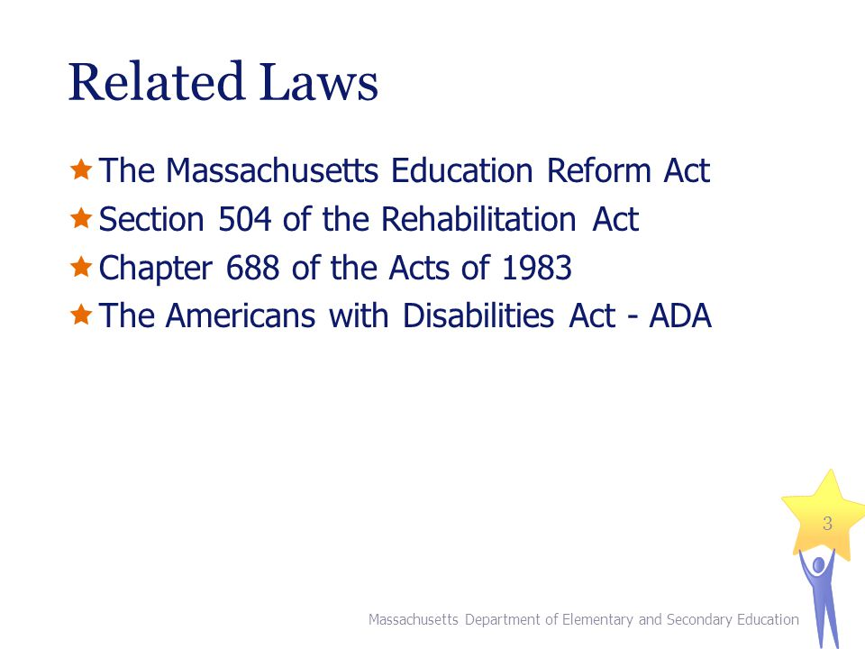 Related Laws The Massachusetts Education Reform Act