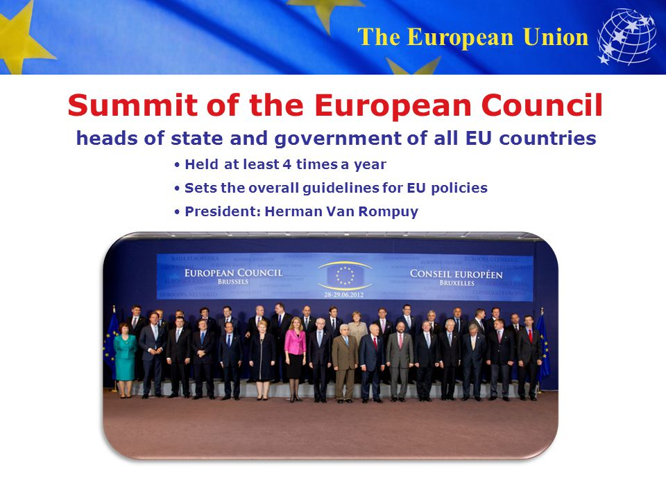 Summit of the European Council