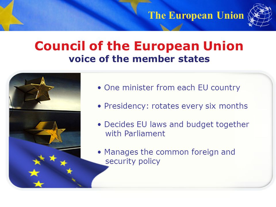 Council of the European Union voice of the member states