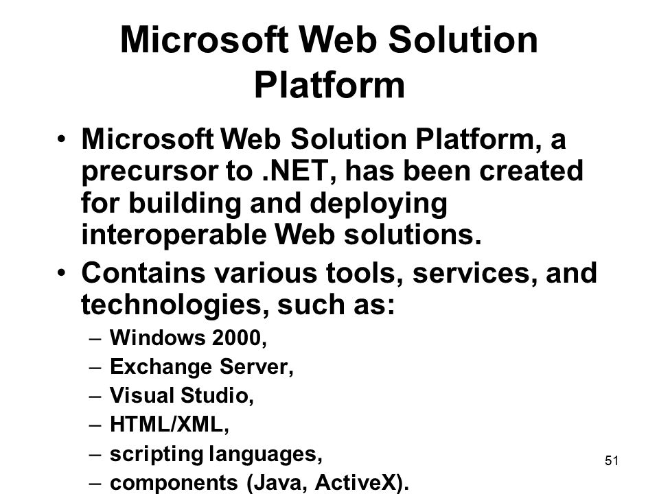 Microsoft Web Solution Platform