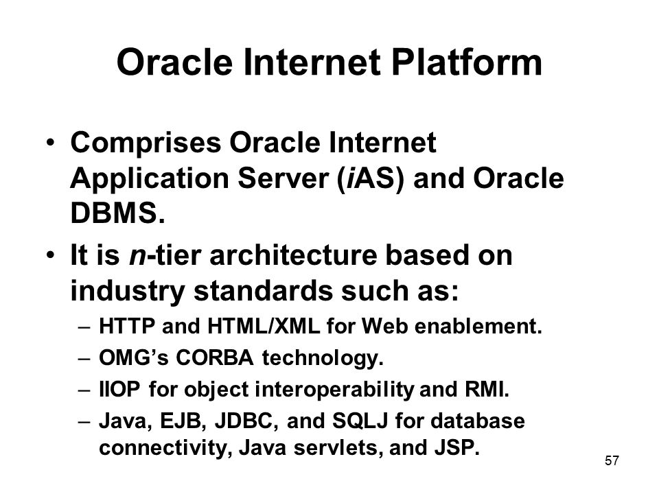 Oracle Internet Platform